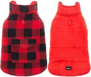 Scenereal Dog Winter Clothes Reversible Jacket