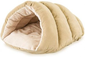 Sleep Zone Faux Suede Cuddle Small Cave Dog Bed