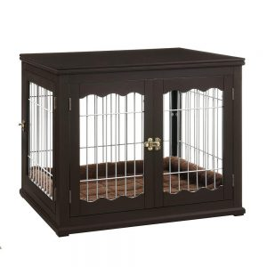Unipaws Large Pet Crate End Table With Cushion