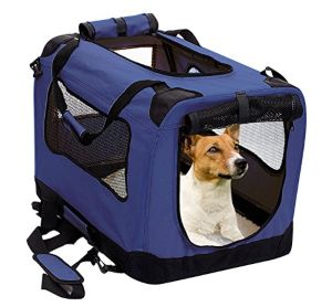 2pet Foldable Dog Crate Soft, Easy To Fold & Carry Dog Crate For Indoor & Outdoor Use