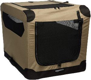 Amazonbasics Folding Soft Dog Crate For Crate Trained Dogs