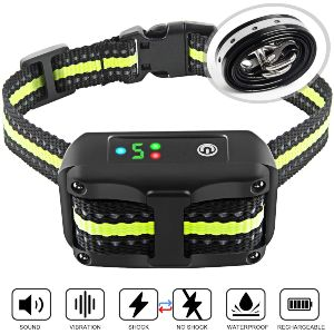 Authen Bark Collar Barking Control Training Collar With Beep Vibration And No Harm Shock
