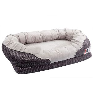 Barksbar Gray Orthopedic Dog Bed Snuggly Sleeper With Solid Orthopedic Foam