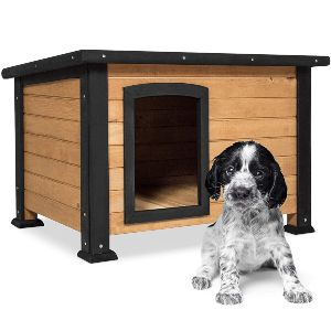 Best Choice Products Wooden Log Cabin Dog House W Opening Roof For Small Dogs