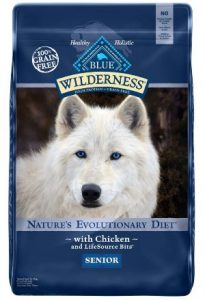 Blue Buffalo Wilderness High Protein Grain Free, Natural Senior Dry Dog Food