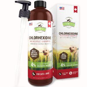 Chlorhexidine Shampoo For Dogs, Cats 16 Oz Medicated Cat Dog Shampoo