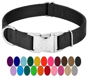 Country Brook Petz Premium Nylon Dog Collar With Metal Buckle