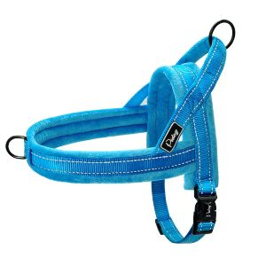 Didog Soft Flannel Padded Dog Vest Harness, Escape Proof Quick Fit Reflective Dog Strap Harness