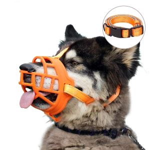 Dog Muzzle, Soft Silicone Basket Muzzle For Dog