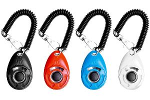 Ecocity 4 Pack Dog Training Clicker With Wrist Strap