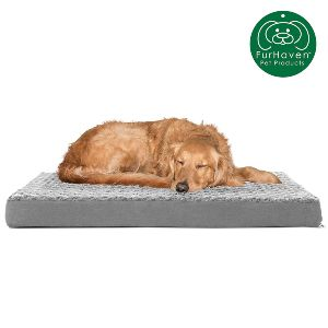 Furhaven Pet Dog Bed Deluxe Orthopedic Traditional