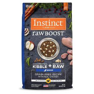 Instinct Raw Boost Senior Grain Free Recipe Natural Dry Dog Food