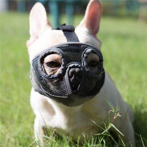 Jyhy Short Snout Dog Muzzles Adjustable Breathable Mesh Bulldog Muzzle
