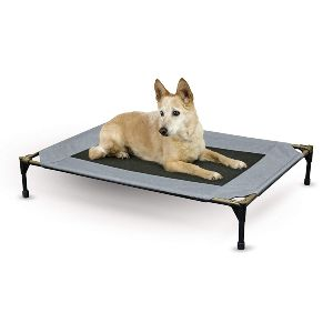 K&h Pet Products Original Pet Cot, Elevated Dog Bed With Mesh Center