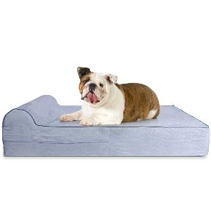 Kopeks Orthopedic Memory Foam Dog Bed With Pillow And Waterproof Liner & Anti Slip Bottom