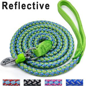 Mycicy Rope Dog Leash 6 Foot Reflective Dog Leash