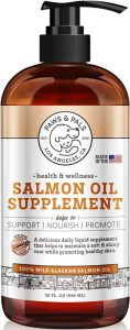 Paws & Pals Wild Alaskan Salmon Oil For Dogs & Cats 32oz Of 100% Pure Fish Oil Liquid Food