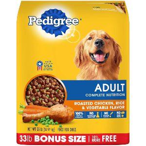 Pedigree Adult Dry Dog Food Roasted Chicken, Rice & Vegetable Flavor