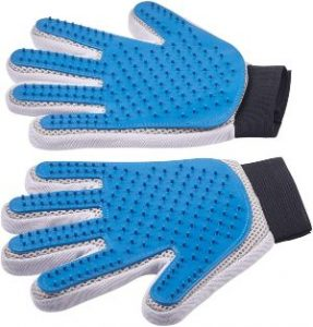 Pet Grooming Glove Enhanced Five Finger Design For Cats, Dogs And Horses Long & Short Fur