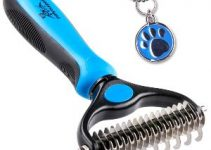Pet Grooming Tool 2 Sided Undercoat Rake For Cats & Dogs
