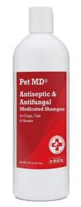 Pet Md Antiseptic And Antifungal Medicated Shampoo For Dogs, Cats And Horses