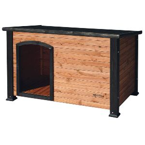 Precision Pet By Petmate Extreme Weather Resistant Log Cabin Dog House With Adjustable Feet