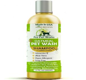 Pro Pet Works All Natural Organic Oatmeal Pet Shampoo Plus Conditioner