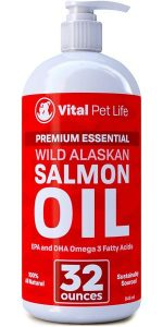 Salmon Oil For Dogs, Cats, And Horses, Fish Oil Omega 3 Food Supplement For Pets