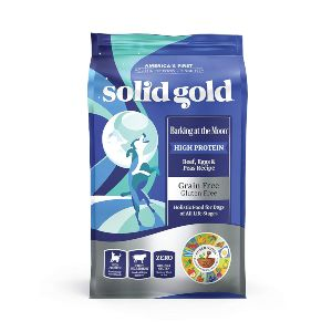 Solid Gold High Protein Dry Dog Food; Barking At The Moon Grain Free With Real Beef; All Life Stages
