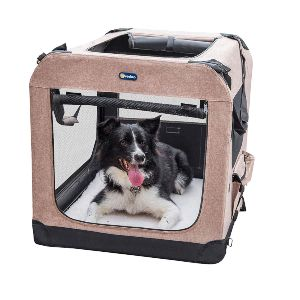 Veehoo Folding Soft Dog Crate, 3 Door Pet Kennel For Crate Training Dogs