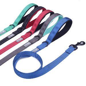 Vivaglory Dog Leash With Padded Handle, Heavy Duty Reflective Nylon Training Leash