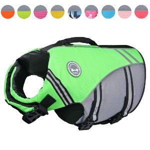 Vivaglory New Sports Style Ripstop Dog Life Jacket Safety Vest With Superior Buoyancy