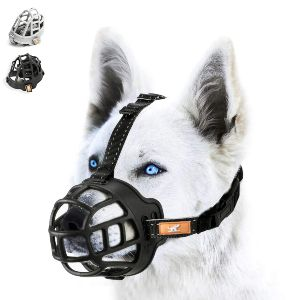 Wintchuk Soft Silicone Basket Dog Muzzle Mouth Cover With Nylon And Reflective Neck Straps