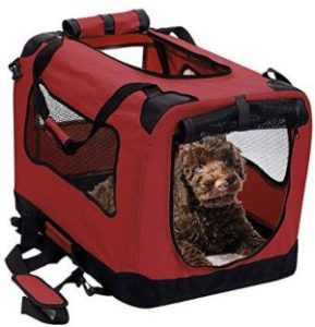 2pet Foldable Dog Crate Soft, Easy To Fold & Carry Dog Crate For Indoor & Outdoor Use Comfy Dog Home & Dog Travel Crate Strong Steel Frame, Washable Fabric Cover (1)