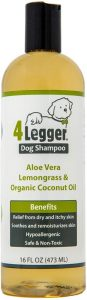 4legger Usda Certified Organic Dog Shampoo All Natural And Hypoallergenic With Aloe And Lemongrass, Soothing For Normal, Dry
