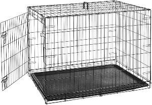 Amazonbasics Single Door & Double Door Folding Metal Dog Crate Cage (1)
