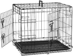 Amazonbasics Single Door & Double Door Folding Metal Dog Crate Cage