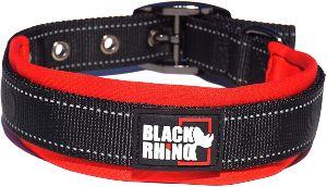 Black Rhino The Comfort Collar Ultra Soft Neoprene Padded Dog Collar For All Breeds Heavy Duty Adjustable Reflective Weatherproof