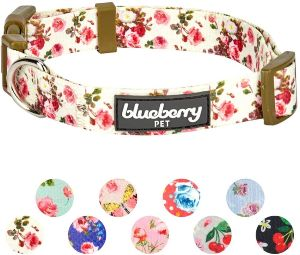Blueberry Pet 20+ Patterns Spring Scent Floral Collection Collars, Martingale Collars, Harnesses