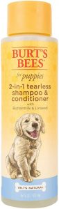 Burt's Bees For Puppies Tearless 2 In 1 Shampoo And Conditioner With Buttermilk And Linseed Oil Dog Shampoo, 16 Ounces