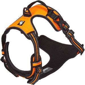Chai's Choice Best Outdoor Adventure Dog Harness. 3m Reflective Vest With Two Leash Attachments. Cau