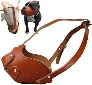 Didog Soft Genuine Leather Dog Muzzle Fit Pit Bull Boxer Amstaff Staffordshire Bull Terrier (1)