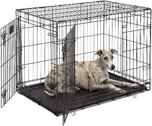 Dog Crate 1636ddu Midwest Life Stages 36 Double Door Folding Metal Dog Crate Divider Panel, Floo