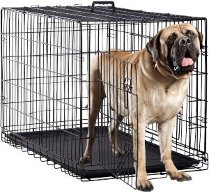 Dog Crate Kennel Pet Cage For Large Medium Dogs Travel Metal Double Door Folding