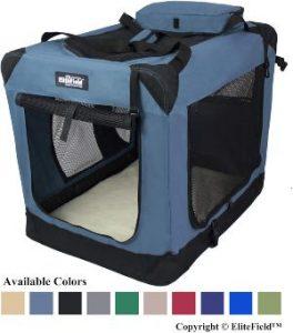 Elitefield 3 Door Folding Soft Dog Crate, Indoor & Outdoor Pet Home