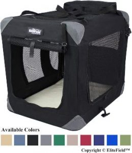 Elitefield 3 Door Folding Soft Dog Crate, Indoor & Outdoor Pet Home, Multiple Sizes And Colors Available (1)