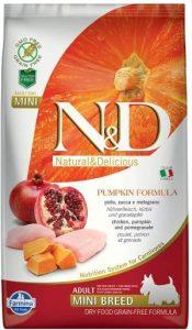 Farmina Natural & Delicious Grain Free Pumpkin Chicken & Pomegranate Adult Dog Mini