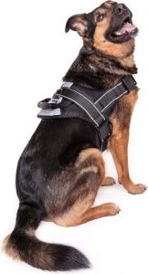 Friends Forever No Pull Dog Harness Large Breed Harnesses For Large Dogs, Black Dog Vest With Han
