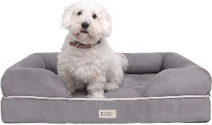 Friends Forever Orthopedic Dog Bed Lounge Sofa Removable Cover 100% Suede 2.5 5 Mattress Memory Foam Premium Prestige Edition