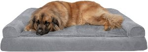 Furhaven Pet Dog Bed Therapeutic Plush & Suede Sofa Style Living Room Couch Pet Bed W Removable C (2)